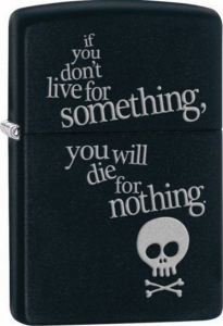 Bilde av Zippo- Live for Something - Matte Black