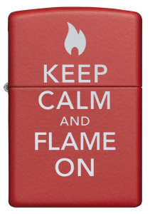 Bilde av Zippo - Keep Calm and Flame On - Matte Red