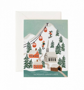 Bilde av Holiday snow scene julekort Rifle Paper Co