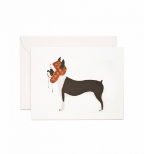 Bilde av Boston Terrier kort Rifle Paper Co