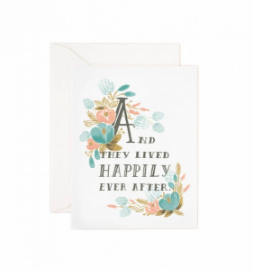 Bilde av Happily Ever After kort Rifle Paper Co