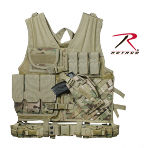 Bilde av Taktisk Multicam Cross Draw Vest